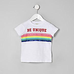 """Weißes T-Shirt """"Be Unique"""""""