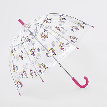 Girls pink unicorn umbrella
