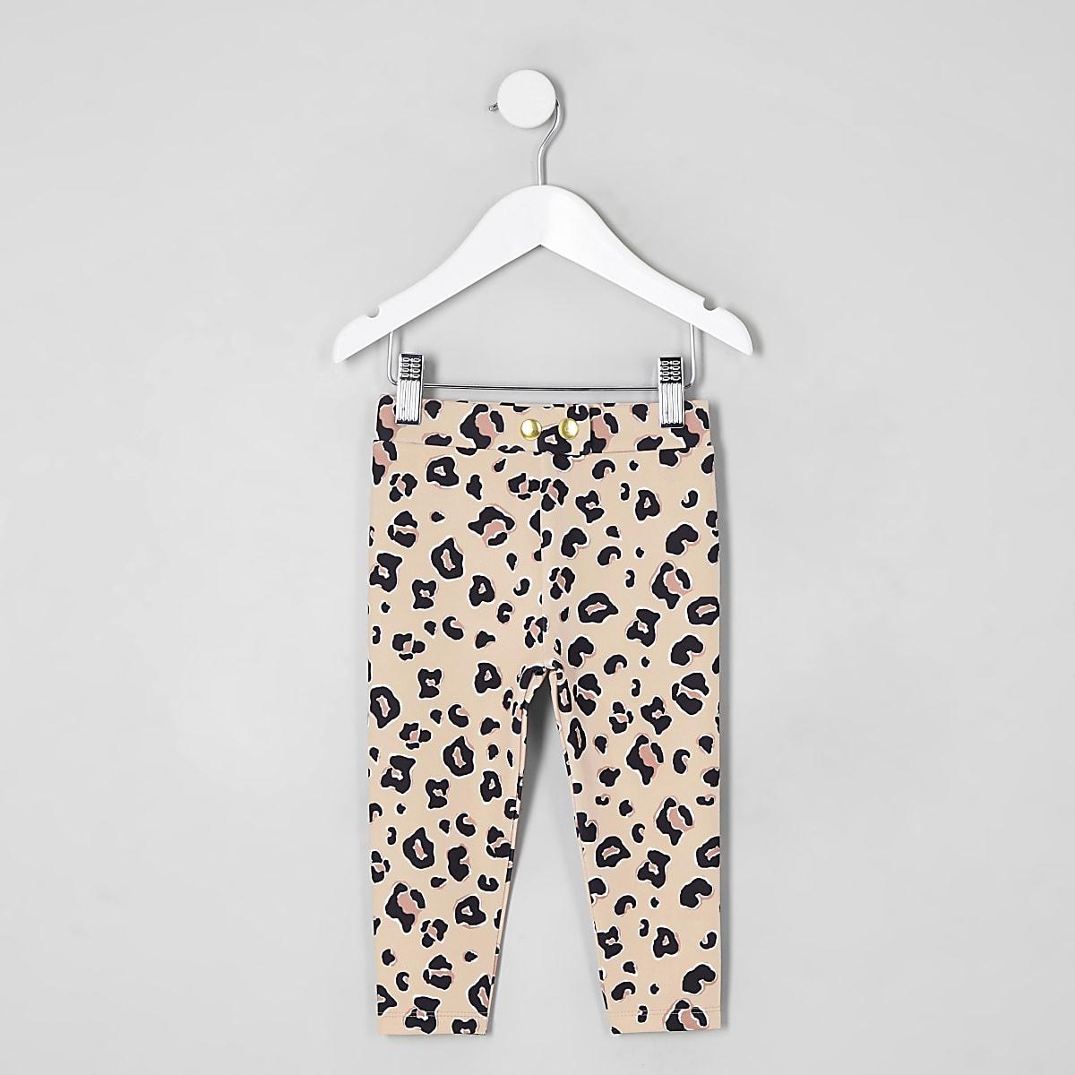 eb0306f75c39 Mini girls leopard print leggings - Baby Girls Leggings - Baby Girls  Bottoms - Mini Girls - girls
