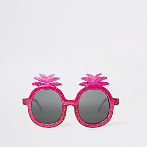 Mini girls pink pineapple sunglasses