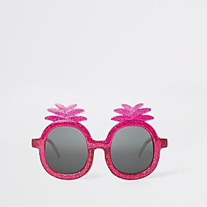 Mini - Roze zonnebril met ananas voor meisjes
