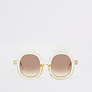 Mini girls yellow pineapple sunglasses