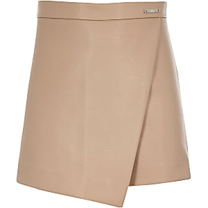 Girls beige rose skort