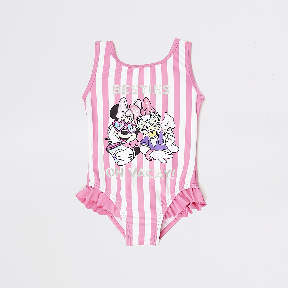 Mini girls pink Minnie Mouse swimsuit
