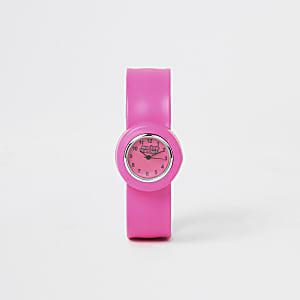 Montre Wacky Watches rose avec braceletà pression pour fille