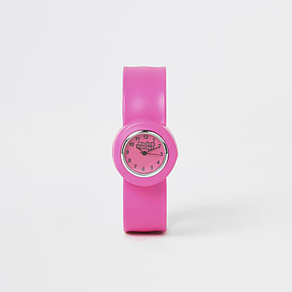 Girls Wacky Watches pink snap watch