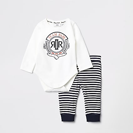 Baby navy stripe jogger outfit