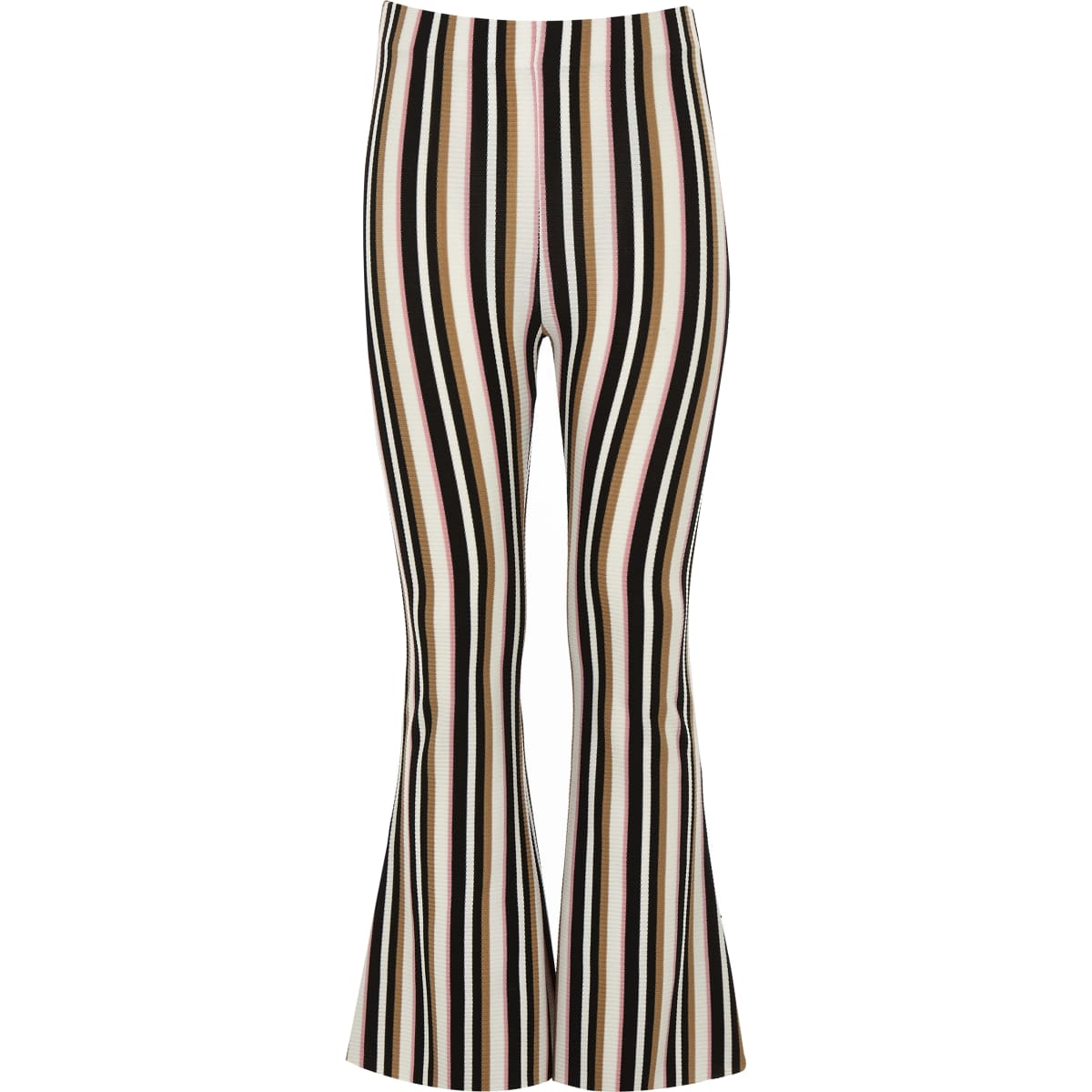 Girls cream stripe flared trouser