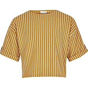 Girls yellow stripe T-shirt