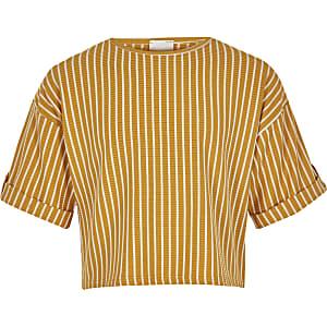 Geel gestreept T-shirt voor meisjes