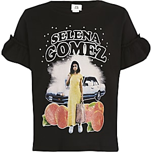 Girls black Selena Gomez T-shirt