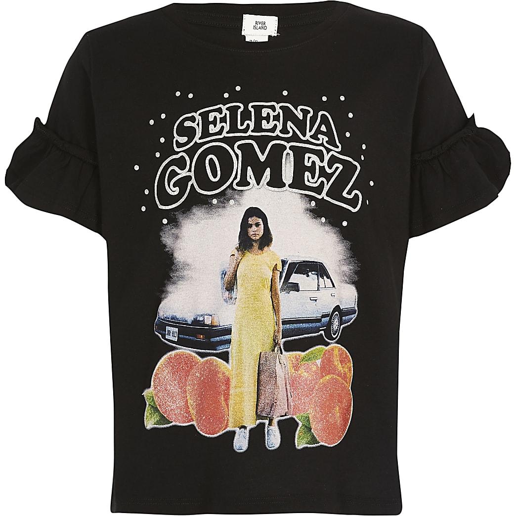 Girls black Selena Gomez T-shirt