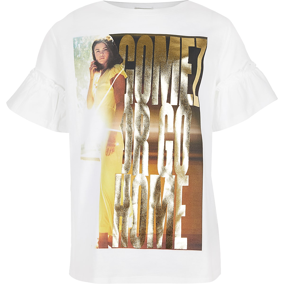 Girls white Selena Gomez T-shirt