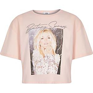 "Hellpinkes, kurzes T-Shirt ""Britney Spears"""