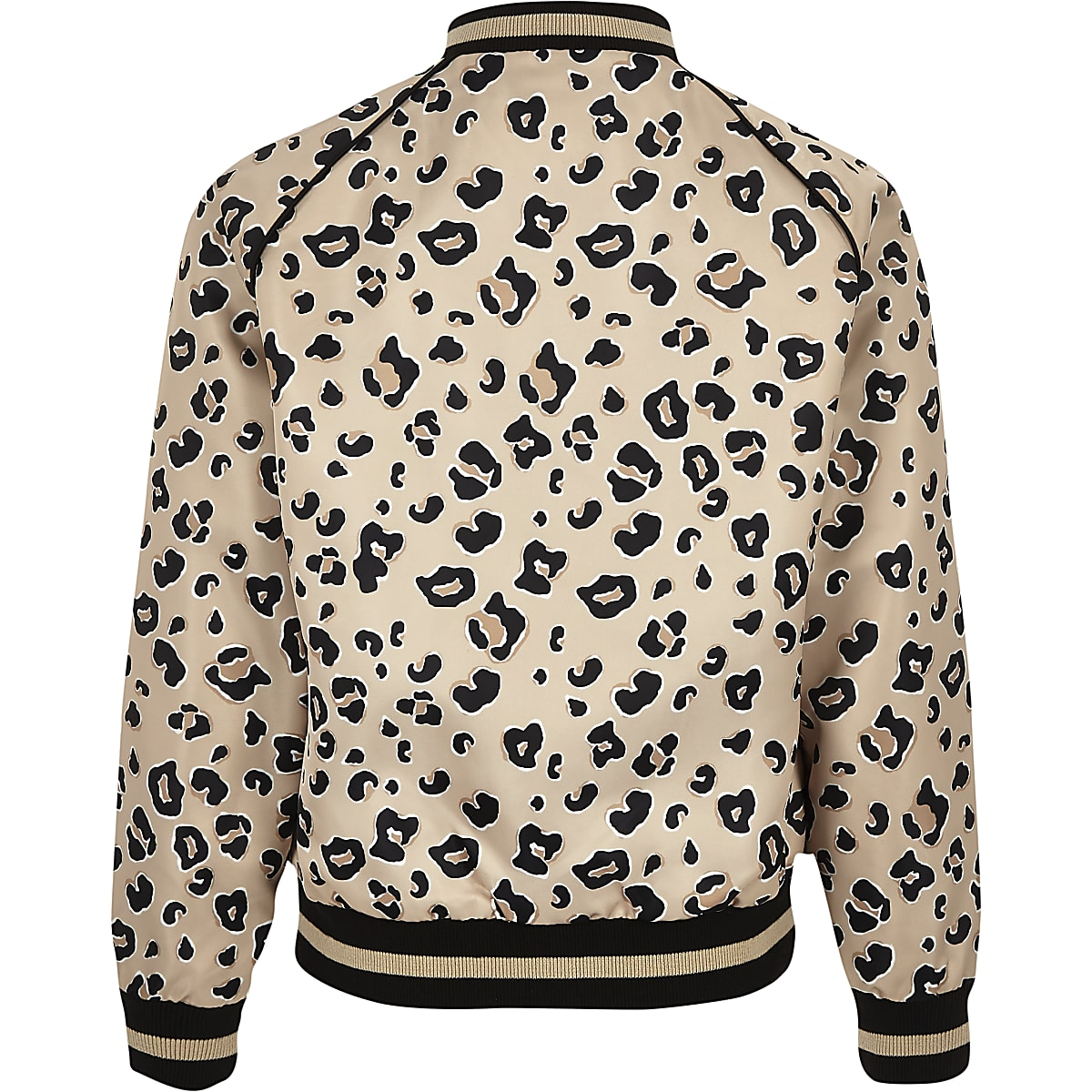 bdd13855ebf4 Girls beige leopard print bomber jacket - Jackets - Coats & Jackets ...