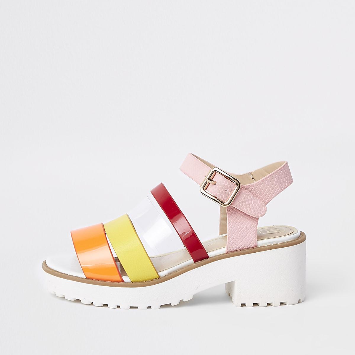Girls multi strap clumpy sandals