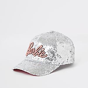 Girls silver Barbie Ipanema sequin cap