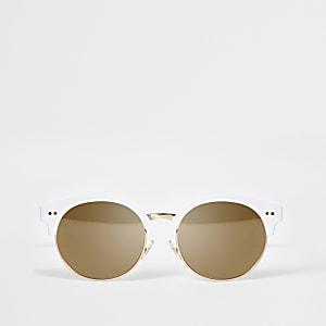 Weiße Retro-Sonnenbrille für Mädchen