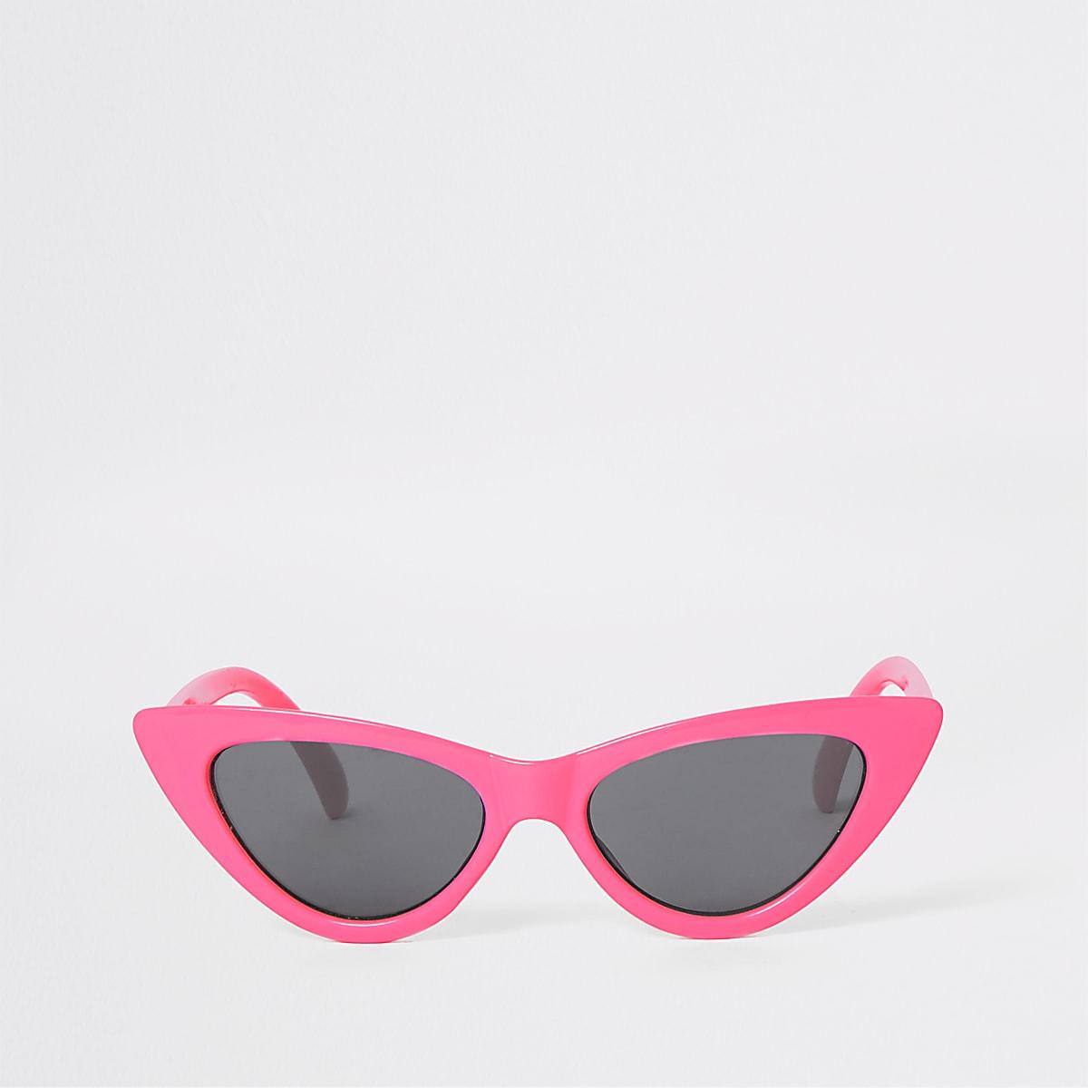 Girls neon pink cat eye sunglasses
