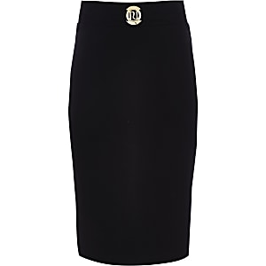 Girls black RI pencil skirt