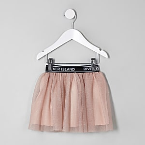 Mini girls RI Active pink glitter tutu skirt