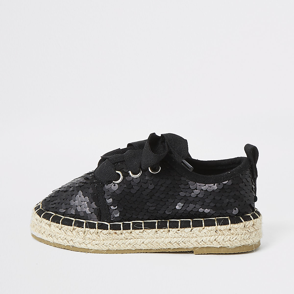 Mini girls sequin espadrille plimsoll