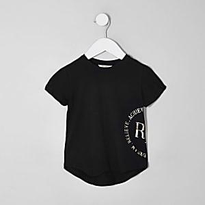 Mini - RI Active - Zwart T-shirt met folieprint voor meisjes