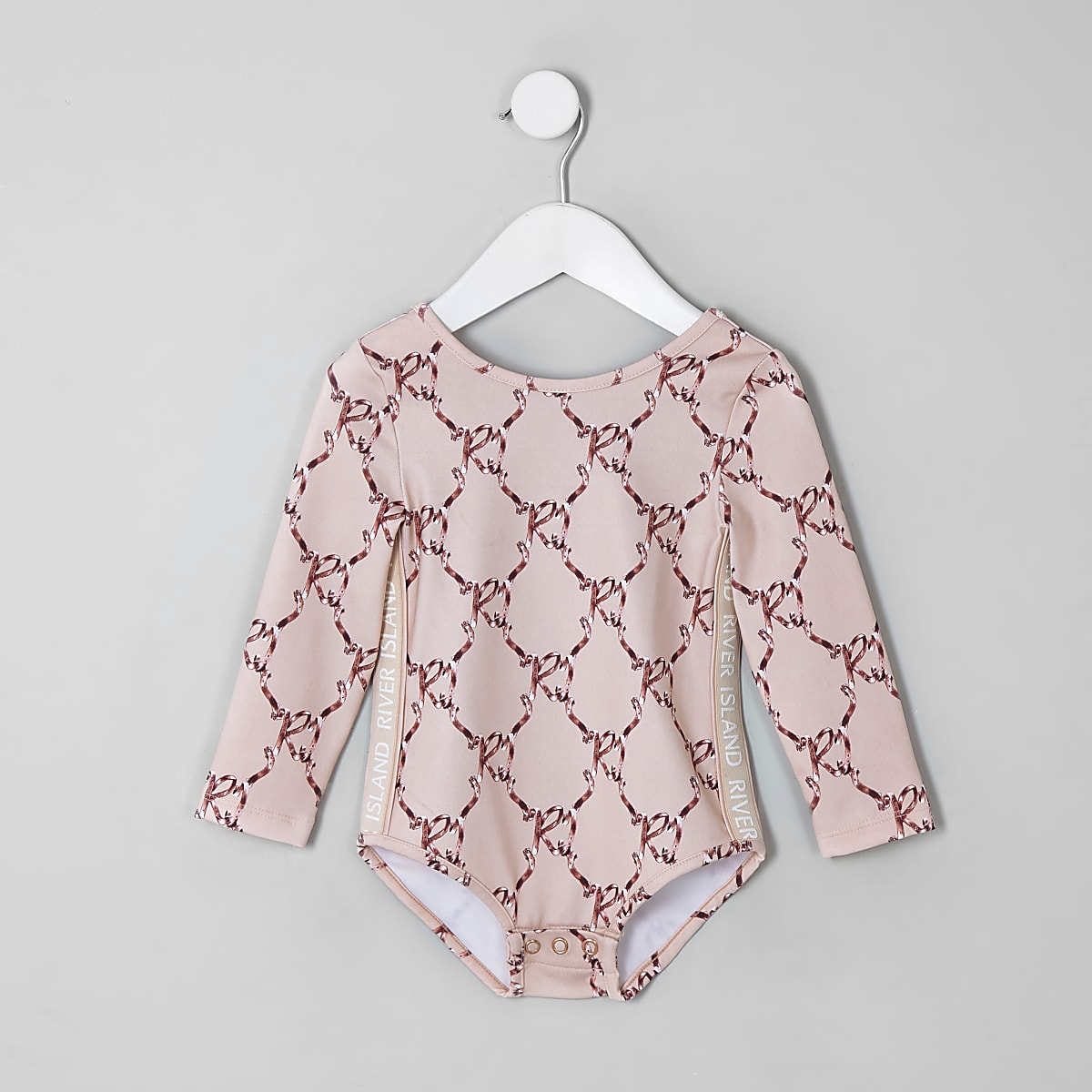 Mini girls RI Active pink bow bodysuit