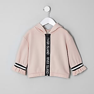 Mini girls RI Active beige zip hoodie