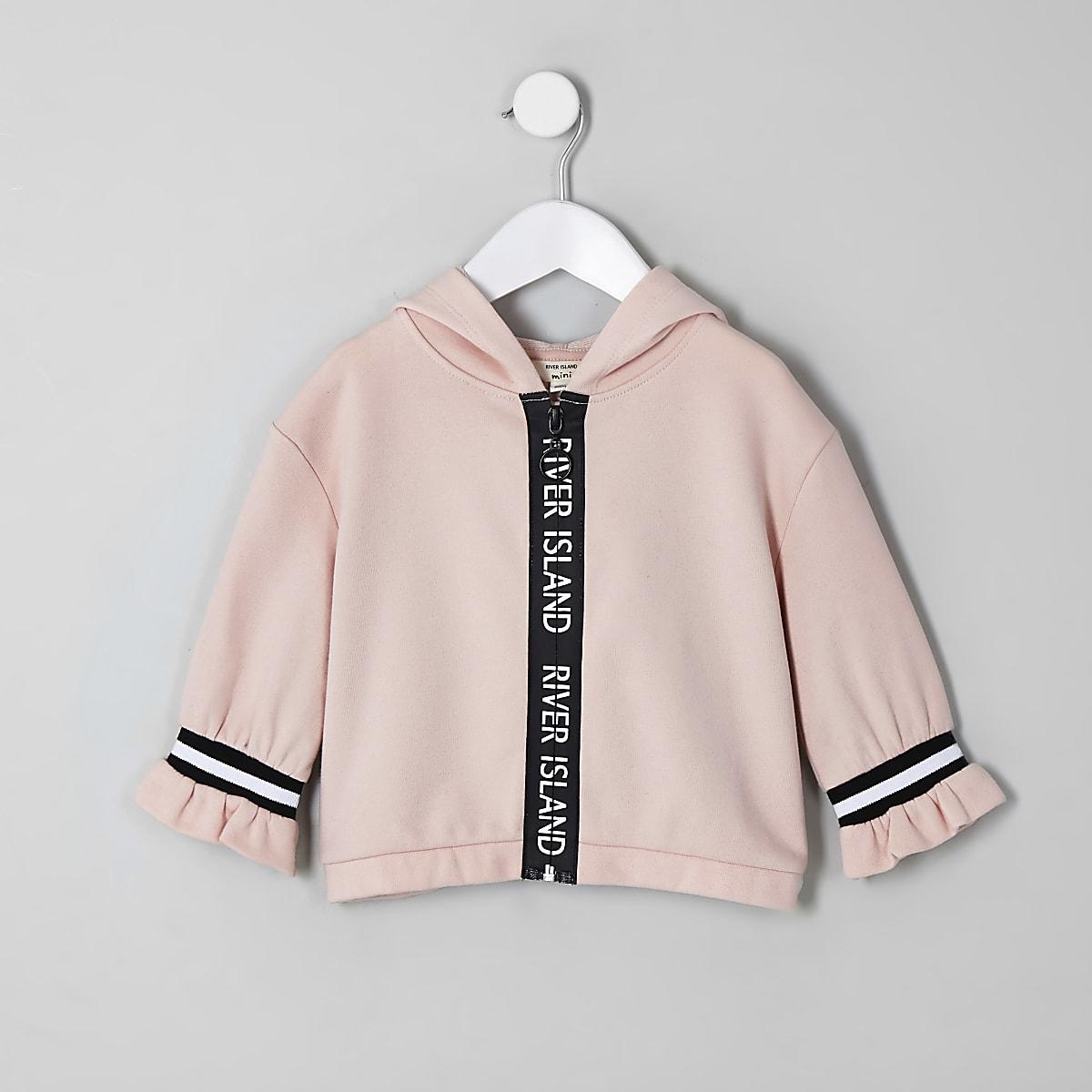 Mini girls RI Active beige zip hoodie