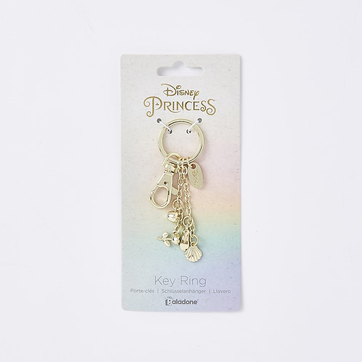 Girls gold tone Disney princess keyring