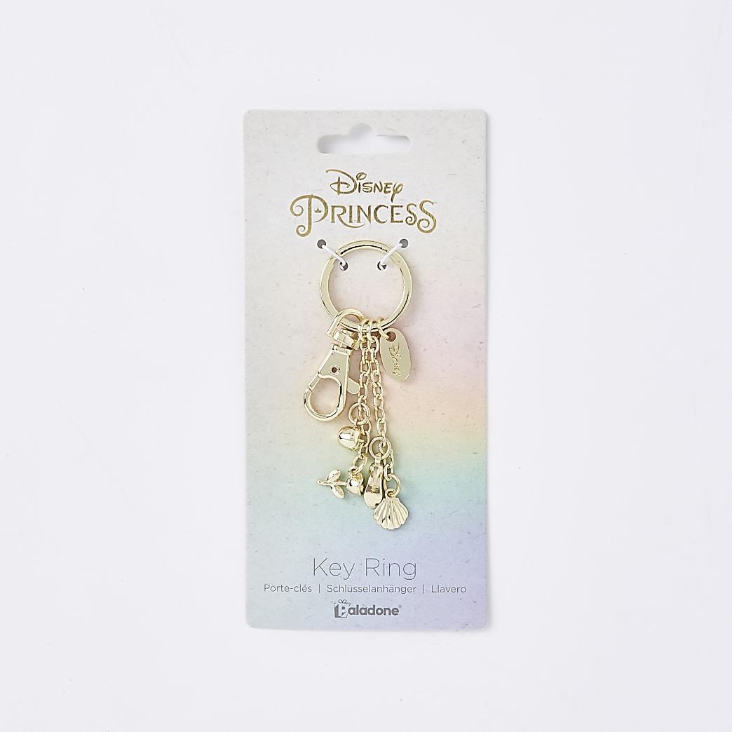Girls gold tone Disney princess keyring