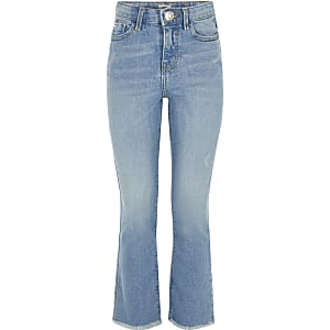 Girls light blue flare jeans