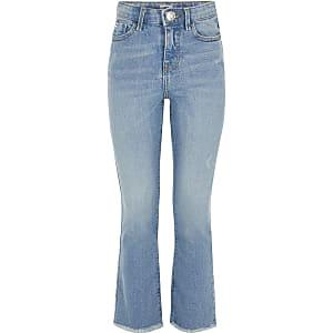 Lichtblauwe uitlopende jeans voor meisjes