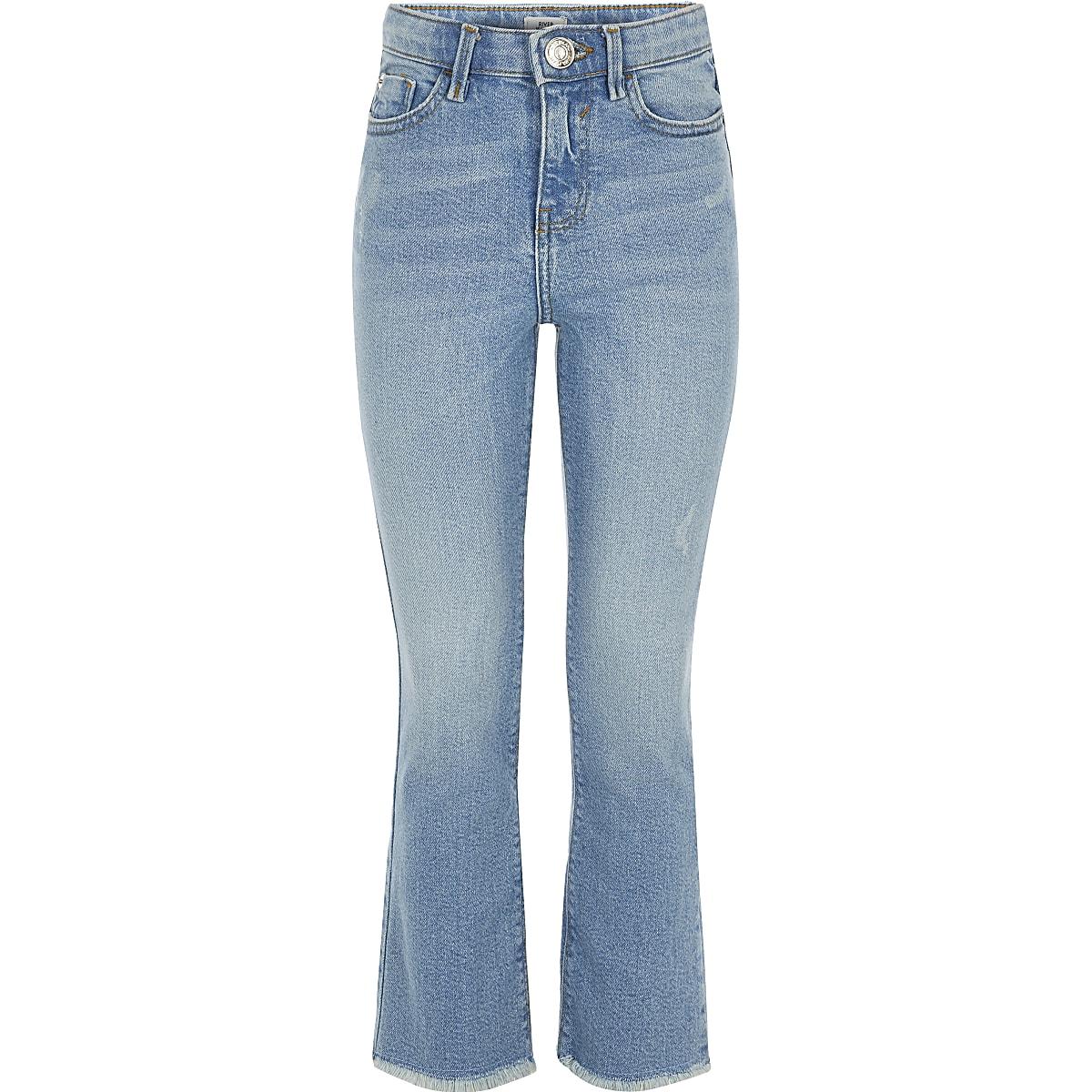Girls light blue flare jeans