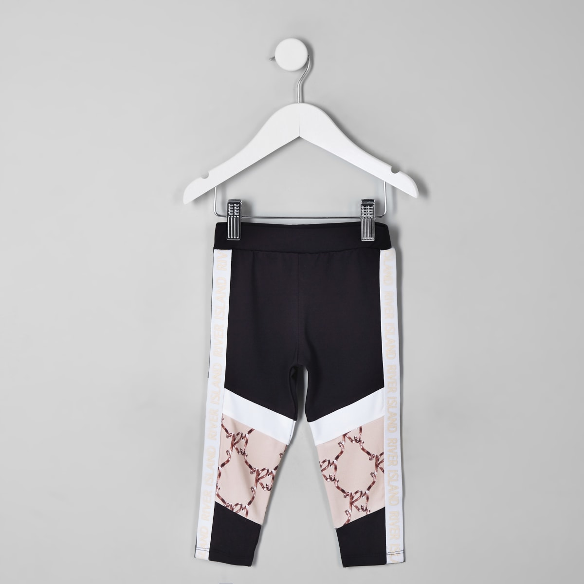 Mini girls RI Active black block leggings