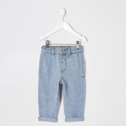 Mini girls blue Mom jeans