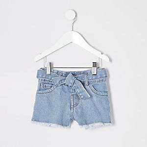 Schwangerschaftsmode – Blaue Jeansshorts