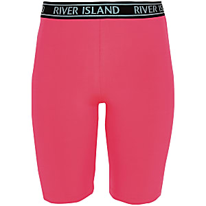 Girls neon pink RI cycling shorts