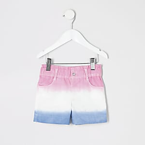 Mini girls pink ombre shorts