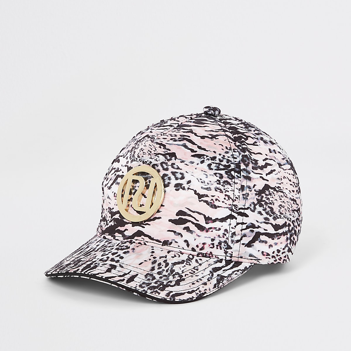 Mini girls pink leopard print cap