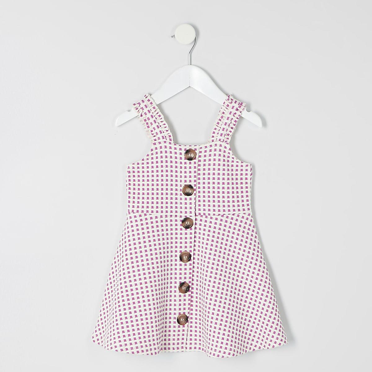 Mini - Geruite roze overgooier voor meisjes
