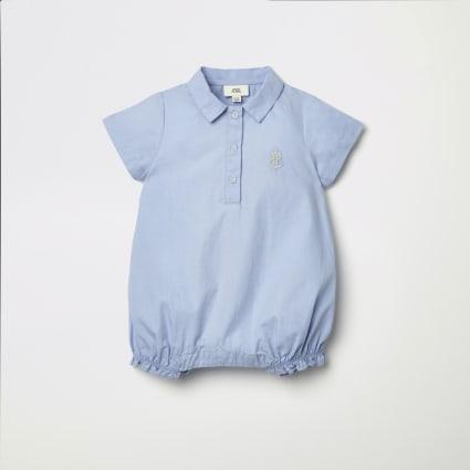 Baby blue RI lightweight romper