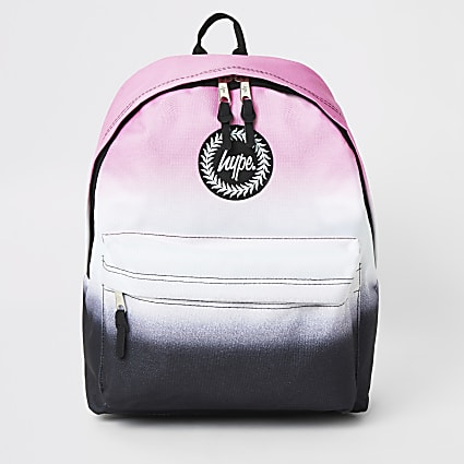 Girls Hype pink ombre backpack