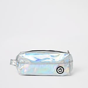 Girls Hype silver mirrored pencil case