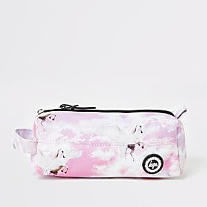 Hype - Roze etui met eenhoorn print voor meisjes