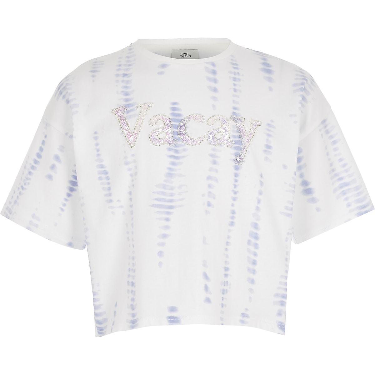 Girls white tie dye T-shirt