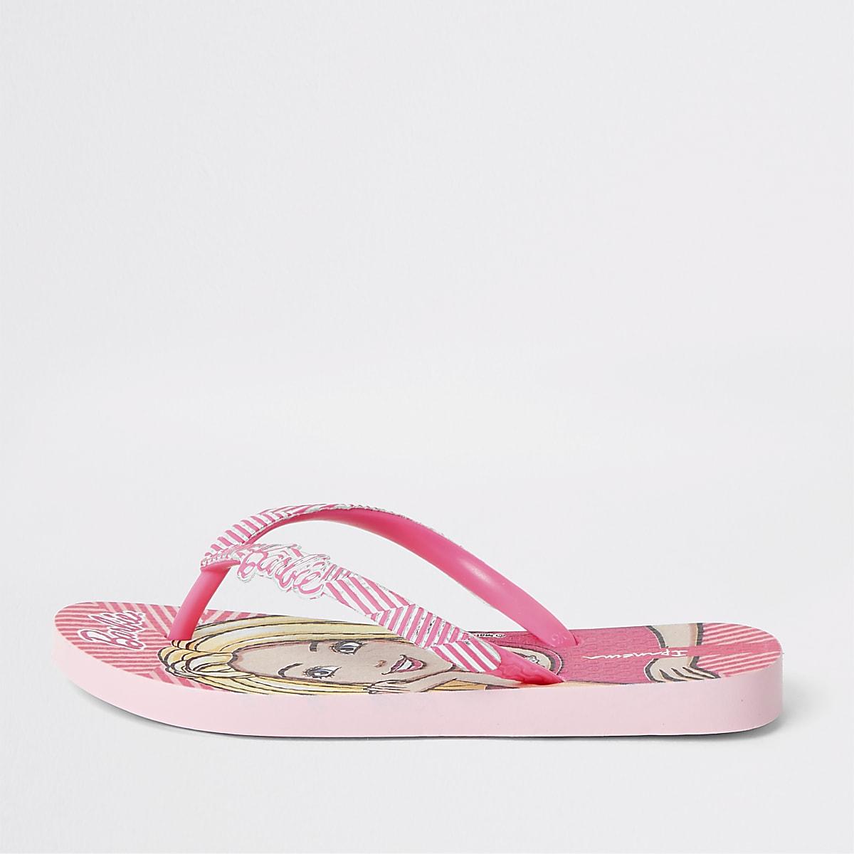 Girls Ipanema  pink Barbie flip flops