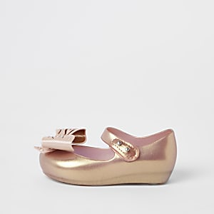 Mini Mellisa – Ballerines or rose mini fille