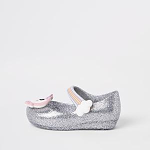 Mini - Mellisa mini-ballerina's in zilver voor meisjes